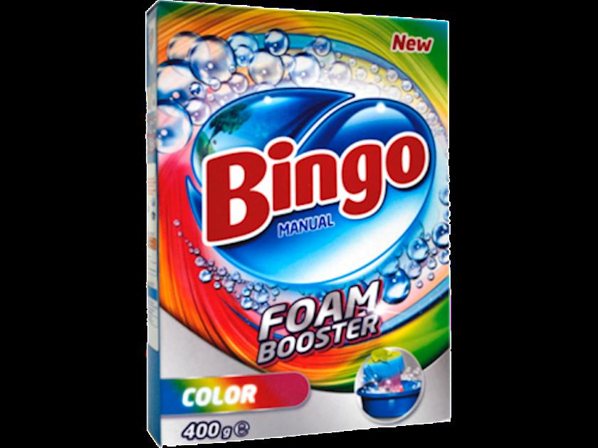 Yuyucu toz Bingo Foam Booster, rəngli paltar üçün, əldə yuma, 400qr