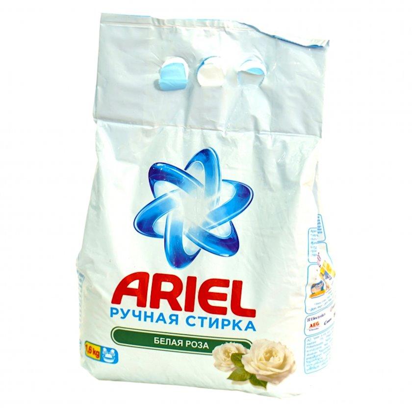 Yuyucu toz Ariel White Rose, ağ paltar üçün, əldə yuma, 1.6kq