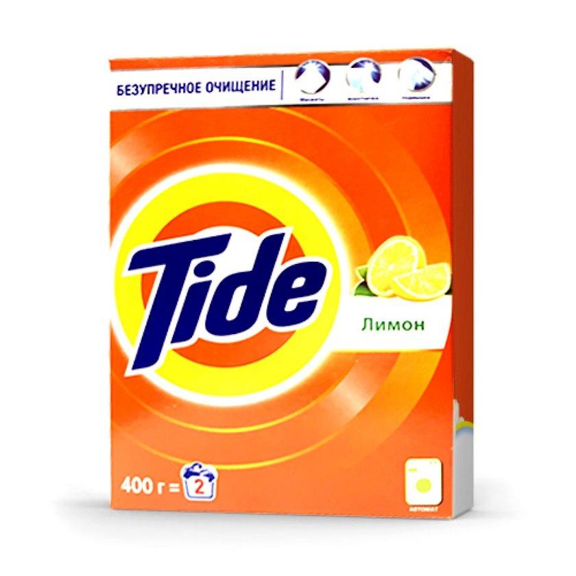 Yuyucu toz Tide Limon, ağ paltar üçün, əldə yuma, 400q