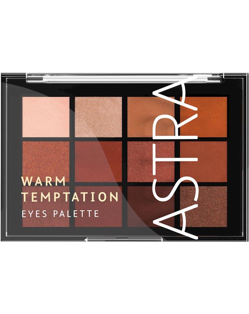 Göz kölgələri dəsti Astra Make-Up The Temptation Palette 02 Warm Temptation 15 q