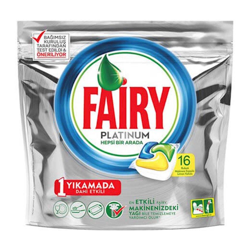 Qabyuyan maşın üçün həblər Fairy Platinum, 16 əd