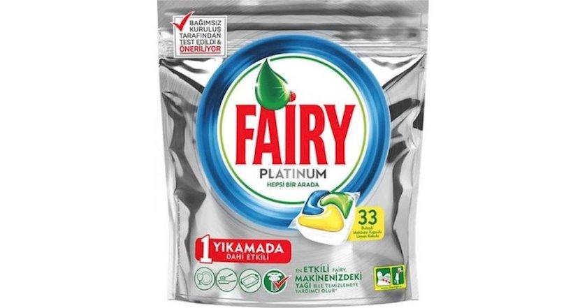 Qabyuyan maşın üçün həblər Fairy Platinum, 33 əd