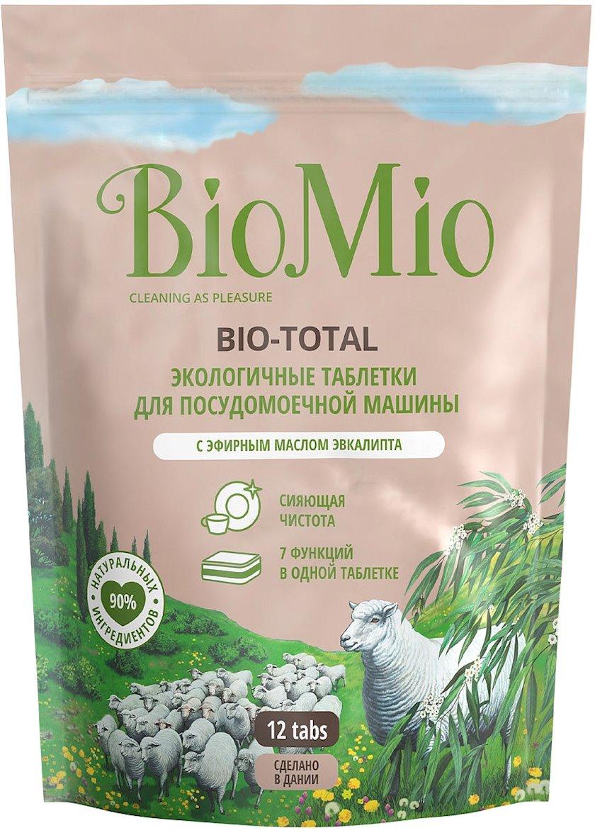 Qabyuyan maşın üçün həblər BioMio Bio-Total ekvalipt yağı, 12 əd