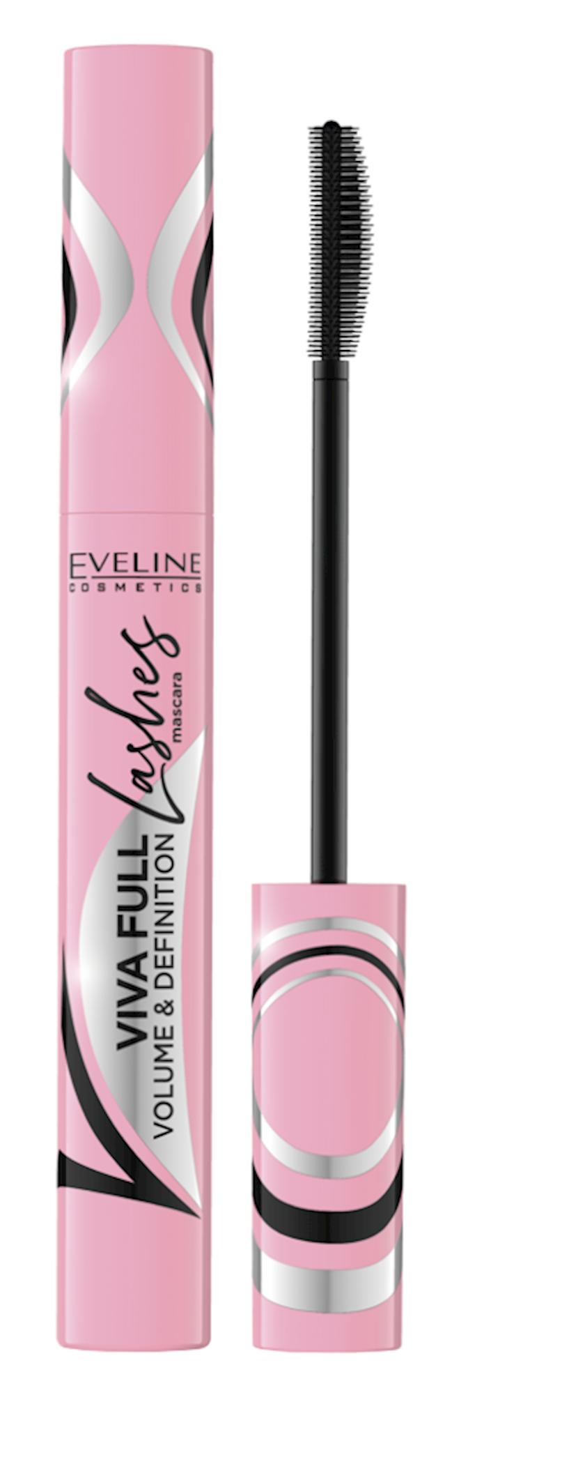 Kipriklər üçün tuş Eveline Viva Full Lashes Mascara Black Volume & Definition 10 ml