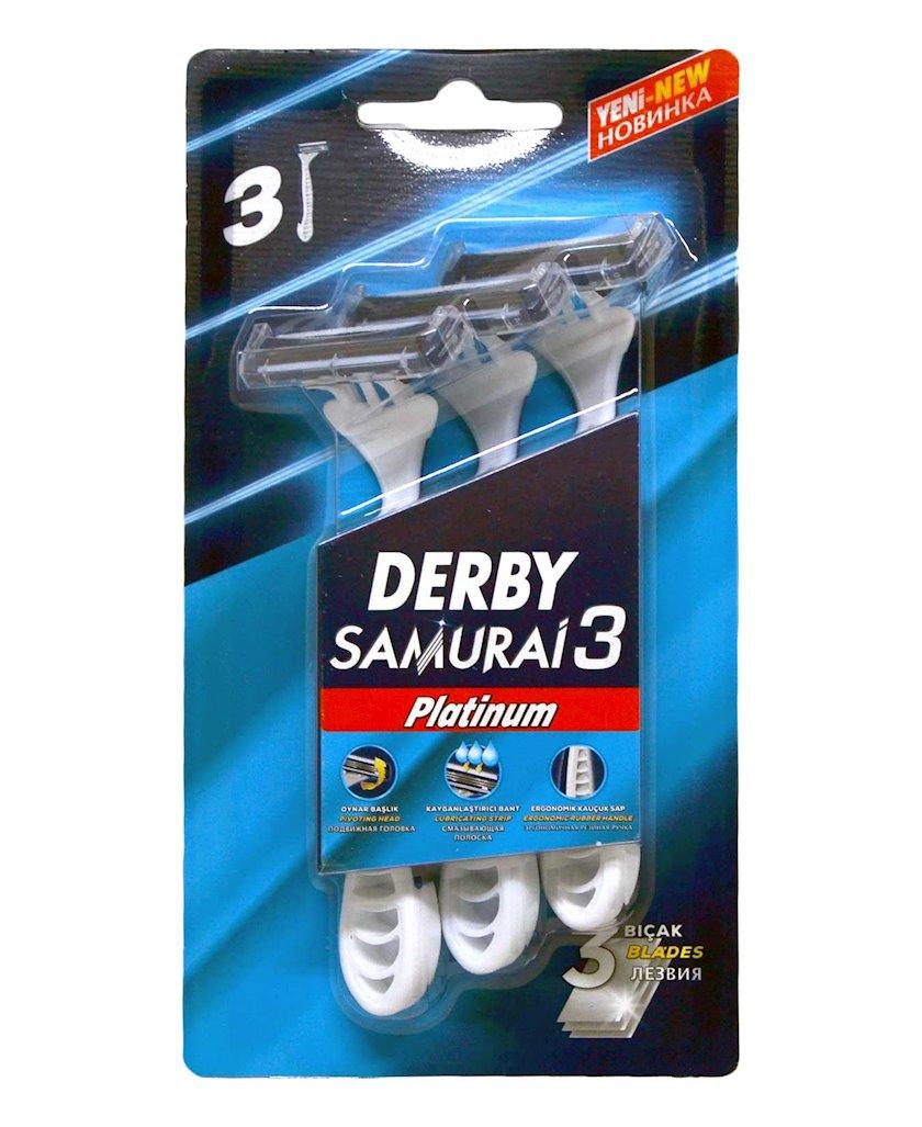 Ülgüc birdəfəlik Derby Samurai 3 Platinum, 3 ədəd