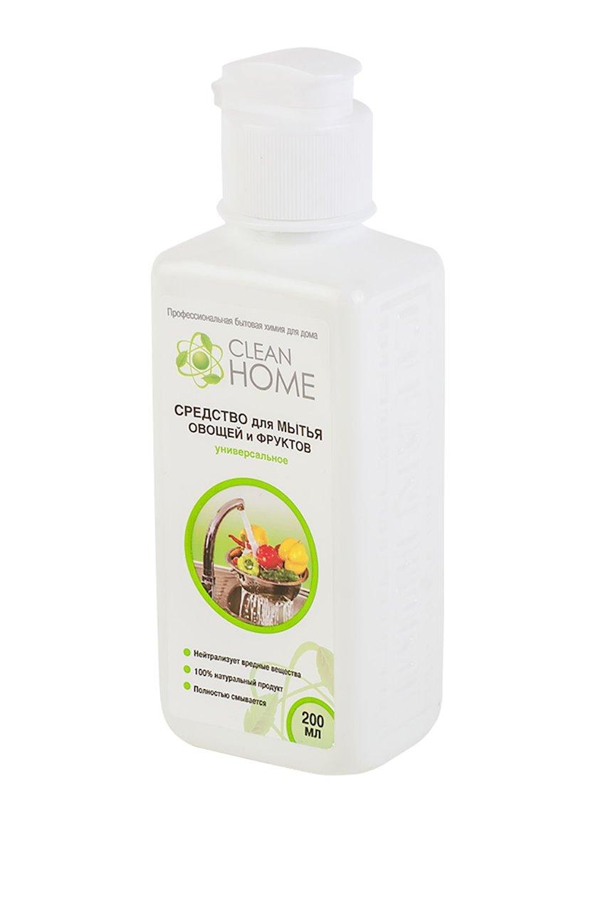 Tərəvəz və meyvələrin yuyulması üçün vasitə Clean Home Universal 200 ml