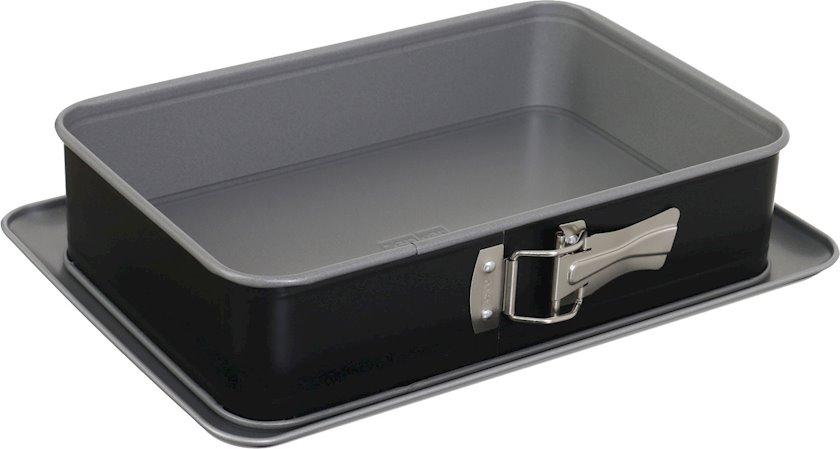 Bişirmə üçün forma Zenker Baking Form, Paslanmayan polad, Qara, Yapışmayan örtük, 32x23x8 sm, 230 °C