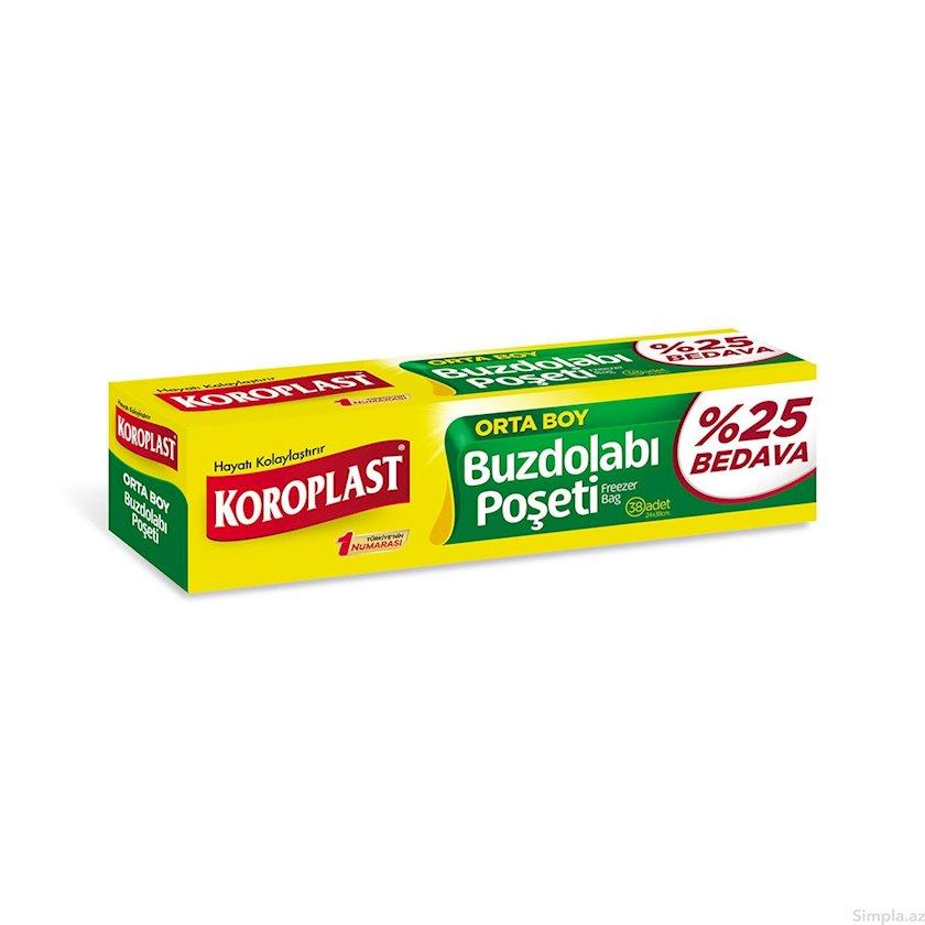 Soyuducu üçün saxlama paketləri Koroplast Freezer Bags Medium 36x17sm (25% pulsuz)