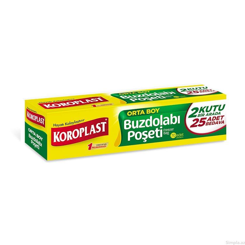 Soyuducu üçün saxlama paketləri Koroplast Freezer Bags 15əd 20x25sm
