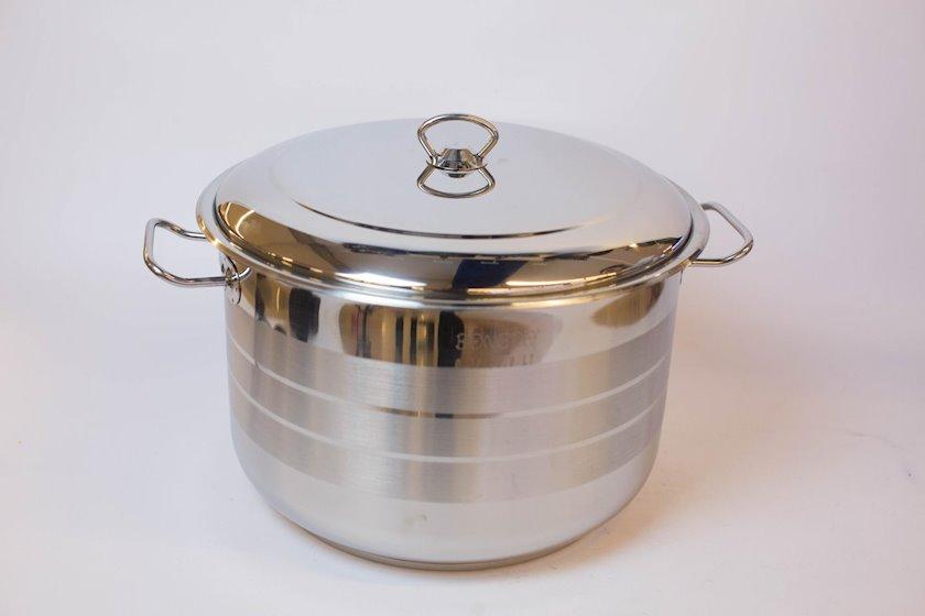 Qazan Bonera Masterchef Single Pot, Paslanmayan polad, Gümüşü, 21 l, 34x23 sm