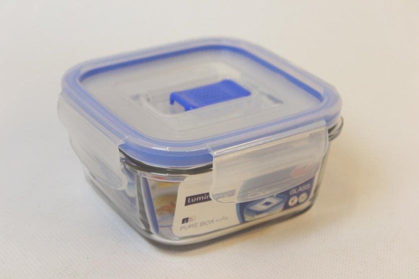 Saxlama konteyneri Luminarc Pure Box Active, dördbucaqlı, həcm 380 ml, material şüşə