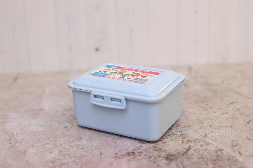 Lanç-boks Qlux Junior, rəng çəhrayi/göy, həcm 300 ml, ölçü 12х9х6 sm, material plastik