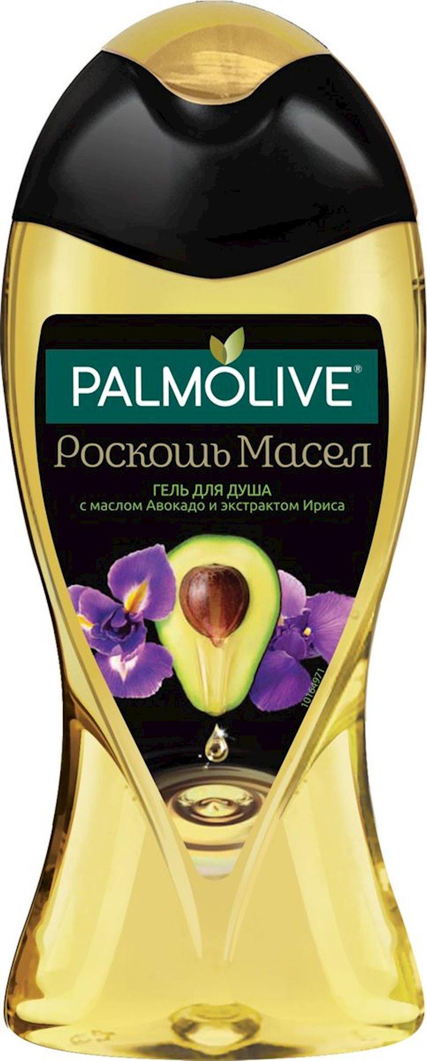 Gel duş üçün Palmolive Yağların dəbdəbəsi avokado və iris ekstraktı ilə 250 ml
