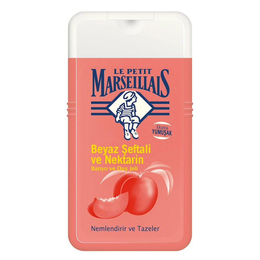 Gel duş üçün Le Petit Marseillais Ağ şaftalı və nektarin 250 ml