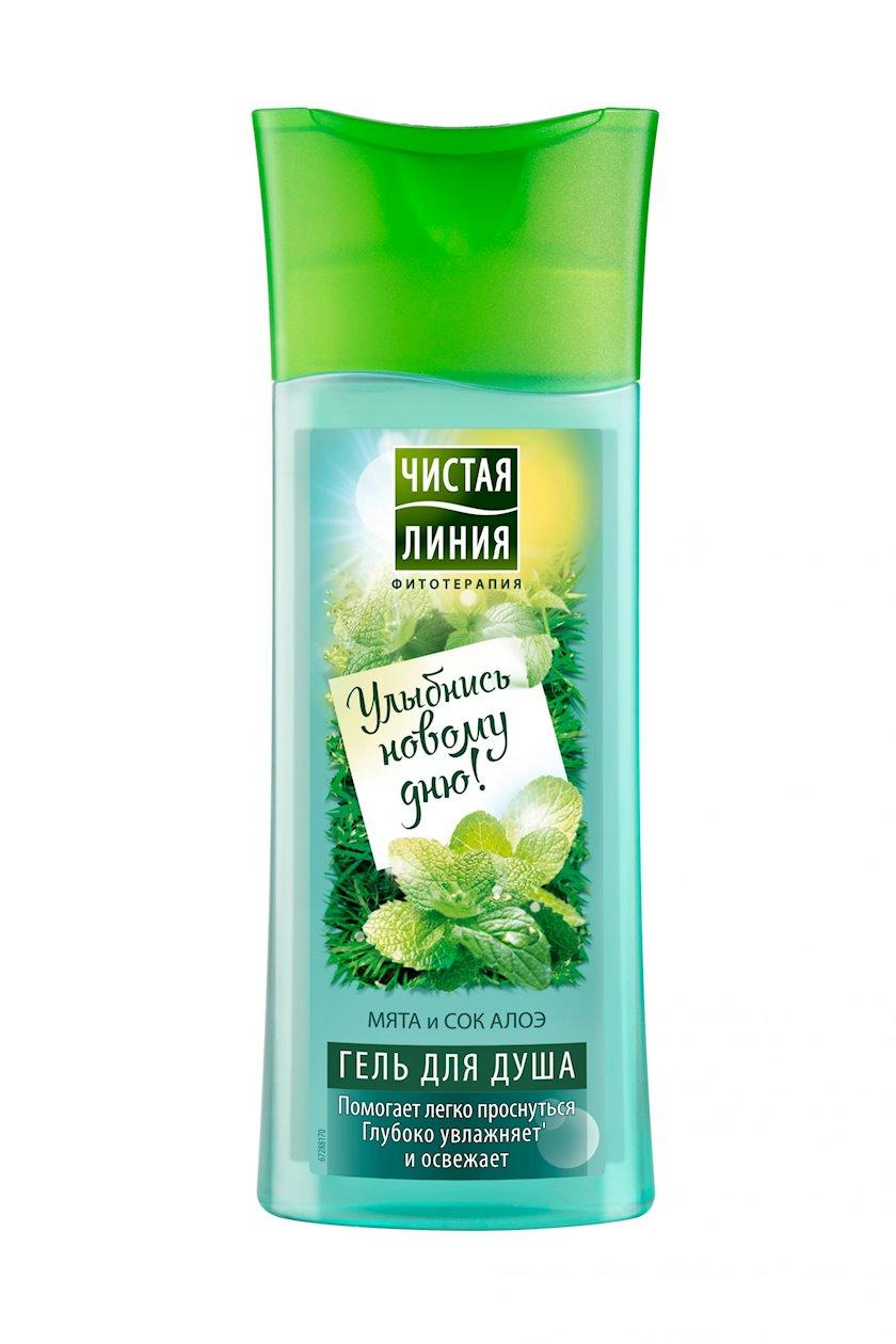 Gel duş üçün Чистая Линия Oyandıran Nanə və Aloe şirəsi 250 ml