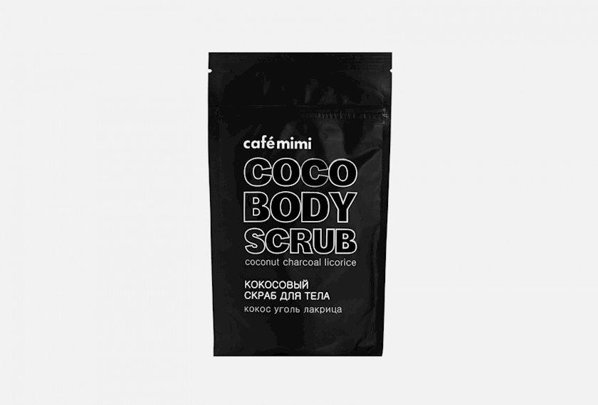 """Skrab bədən üçün  Cafemimi""""Kokos, kömür, biyan"""" , Gözəllik kafesi, 150 ml"""