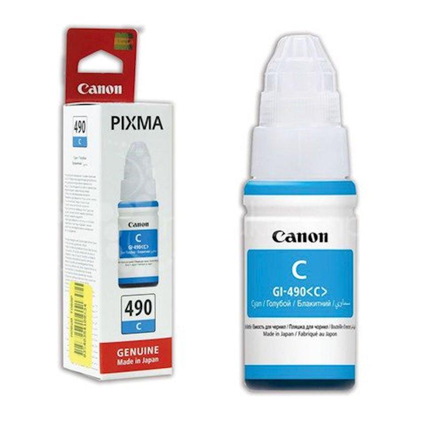 Mürəkkəb konteyneri Canon INK Bottle GI-490 Cyan