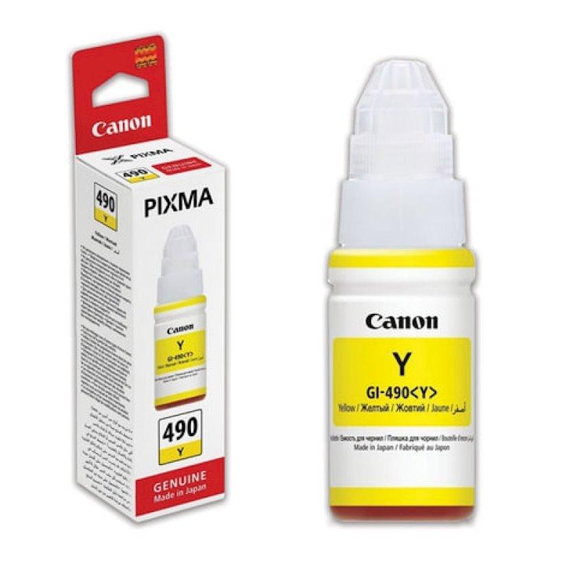 Mürəkkəb konteyneri Canon INK Bottle GI-490 Yellow