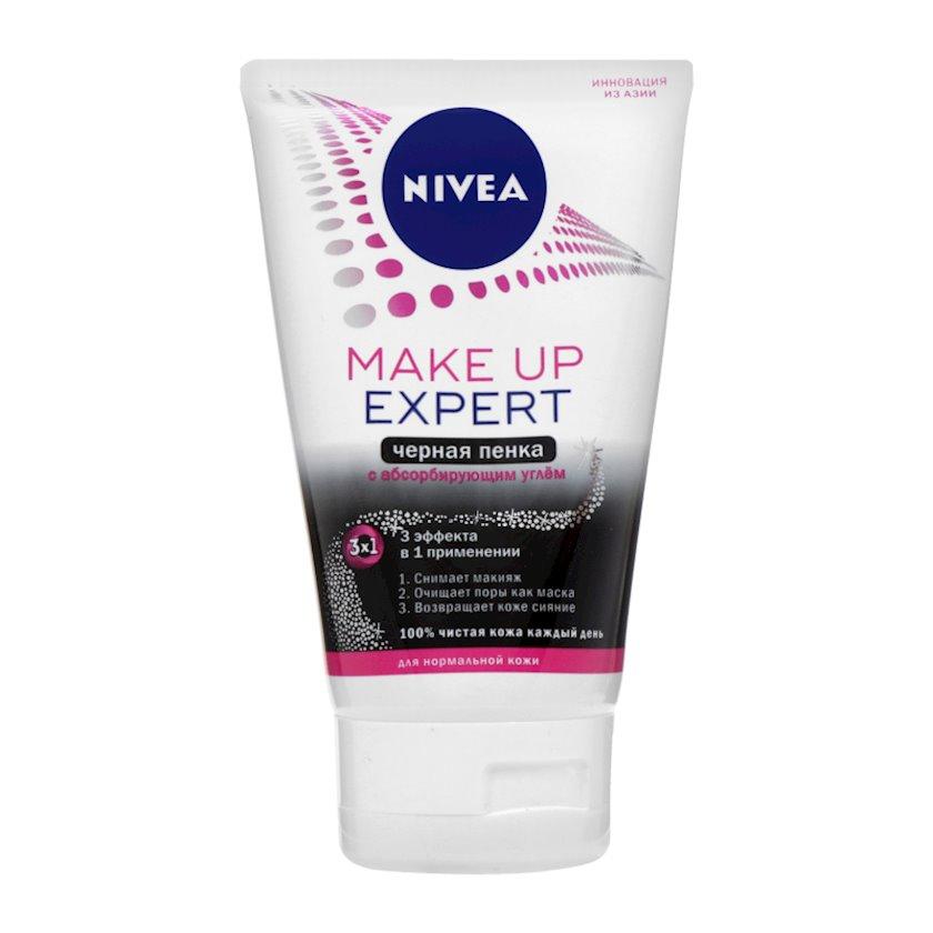 Köpük üz üçün  Nivea 3-ü 1-də Make Up Expert Qara Təmizləyici normal dəri üçün, 100 ml