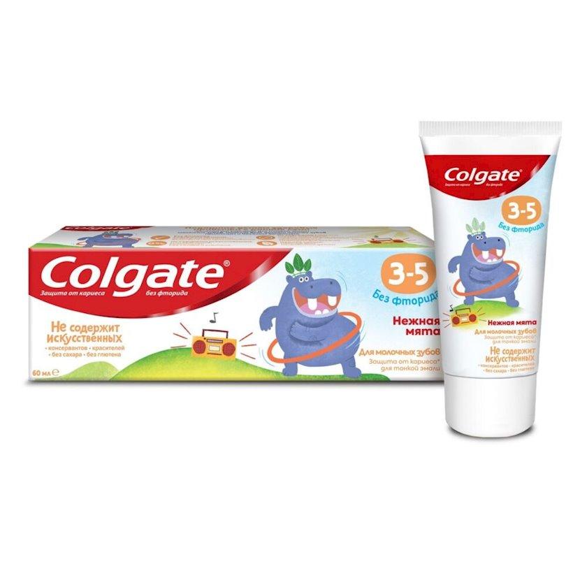 Uşaqlar üçün diş pastası Colgate ftorsuz Zərif nanə 3-5 yaş arası 60 qr.