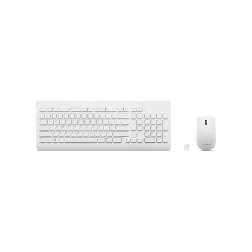 Komplekt (klaviatura+siçan) Lenovo 510 Combo Keyboard & Mouse (White)