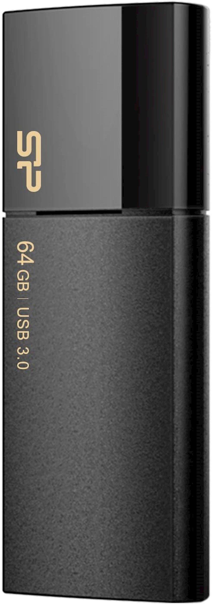 Fleş kart USB Silicon-Power Blaze B05 Black 64 Gb