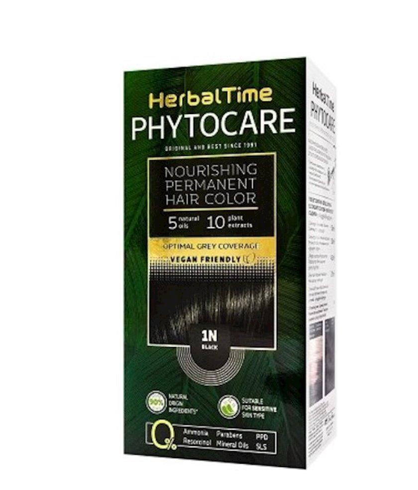 Qalıcı saç boyası Herbal Time Phytocare 1N Qara