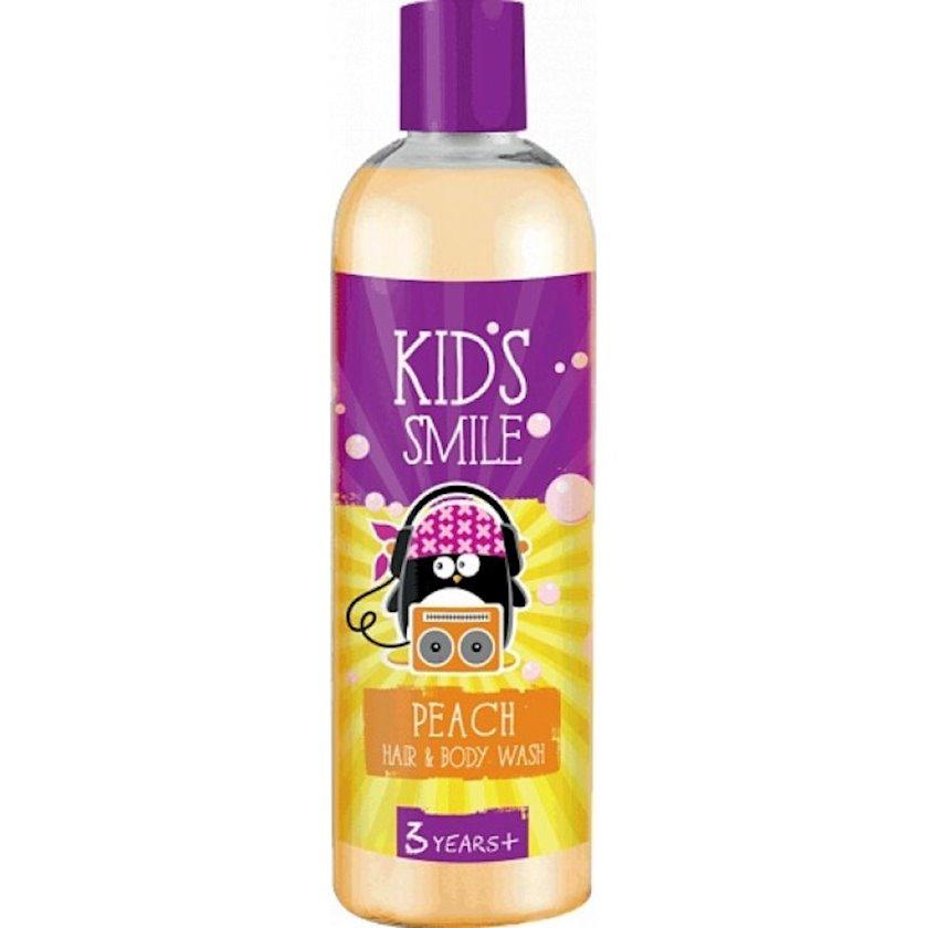 Şampun və duş geli 2in1 Kids Smile Peach 500 ml