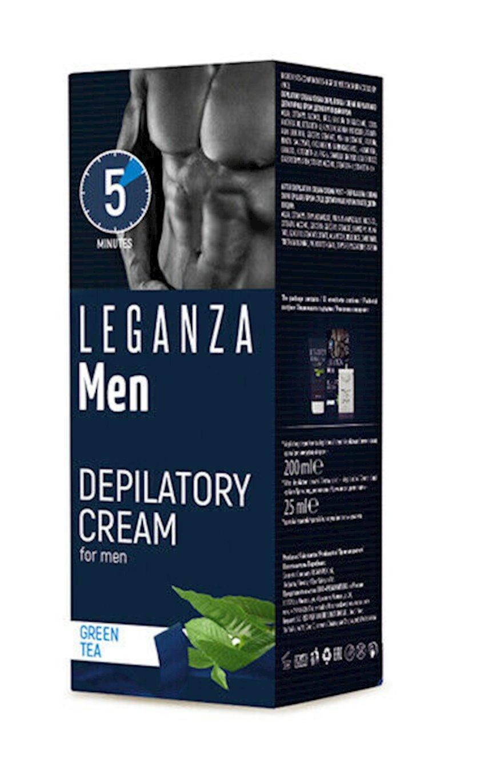 Depilasiya üçün krem Leganza Men Depilatory Cream With Green Tea 200ml
