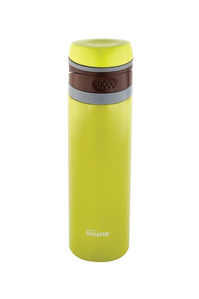 Termos Schafer Iron Man, paslanmayan polad, sarı, 400 ml