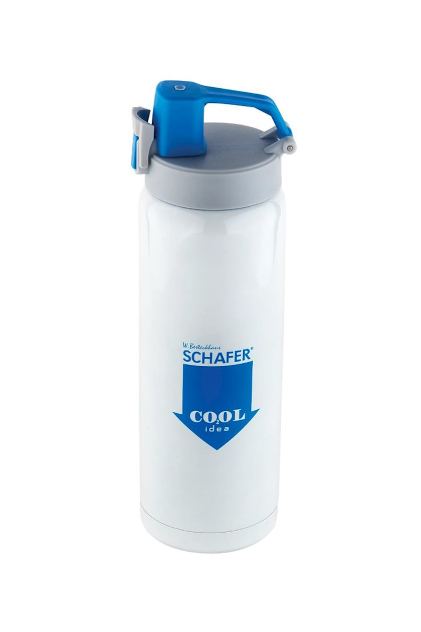 Termos Schafer İron Man Sport, paslanmayan polad, ağ/mavi, 500 ml