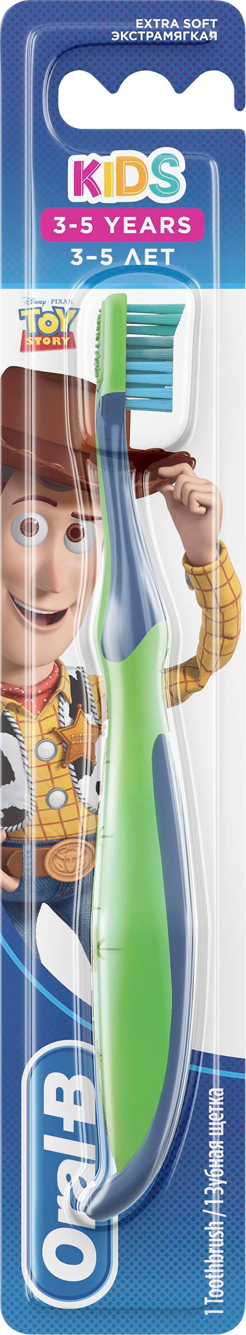 Manual diş fırçası Oral-B Kids Oyuncaqların hekayəsi cizgi filmin qəhrəmanları ilə