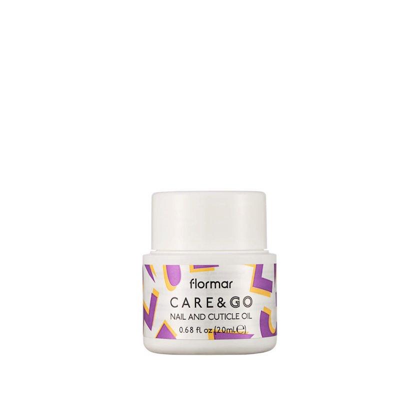 Dırnaq və kütikullar baxım yağı Flormar Care&Go Nail and Cuticle Oil 20ml