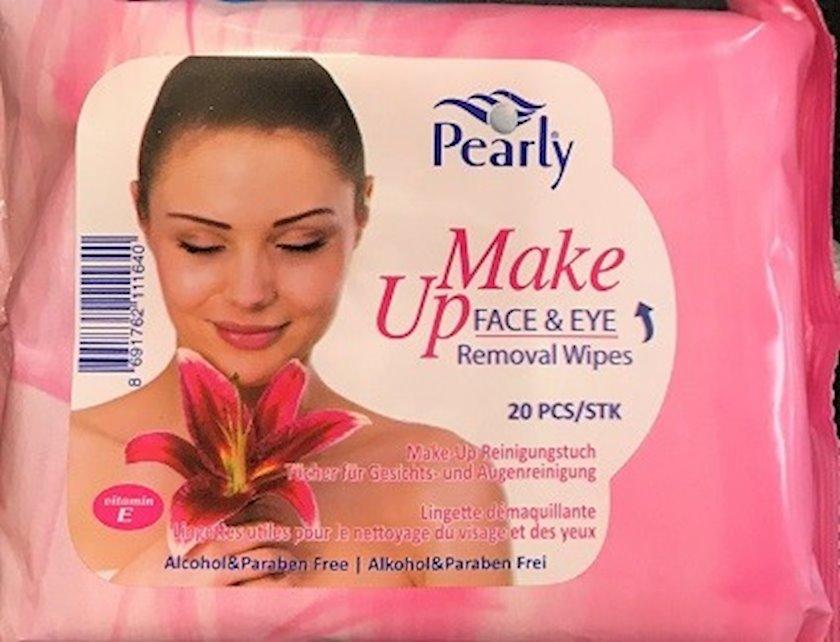 Nəm salfetlər Pearly spa makiyajın silinməsi üçün 20 əd