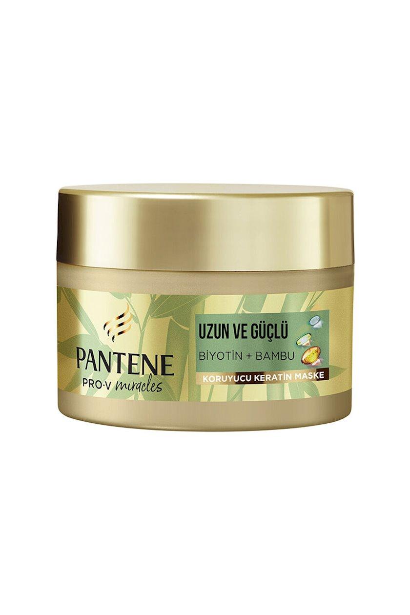 Saç üçün maska Pantene Strong & Long Keratin Hair Mask With Bamboo & Biotin, 160 ml
