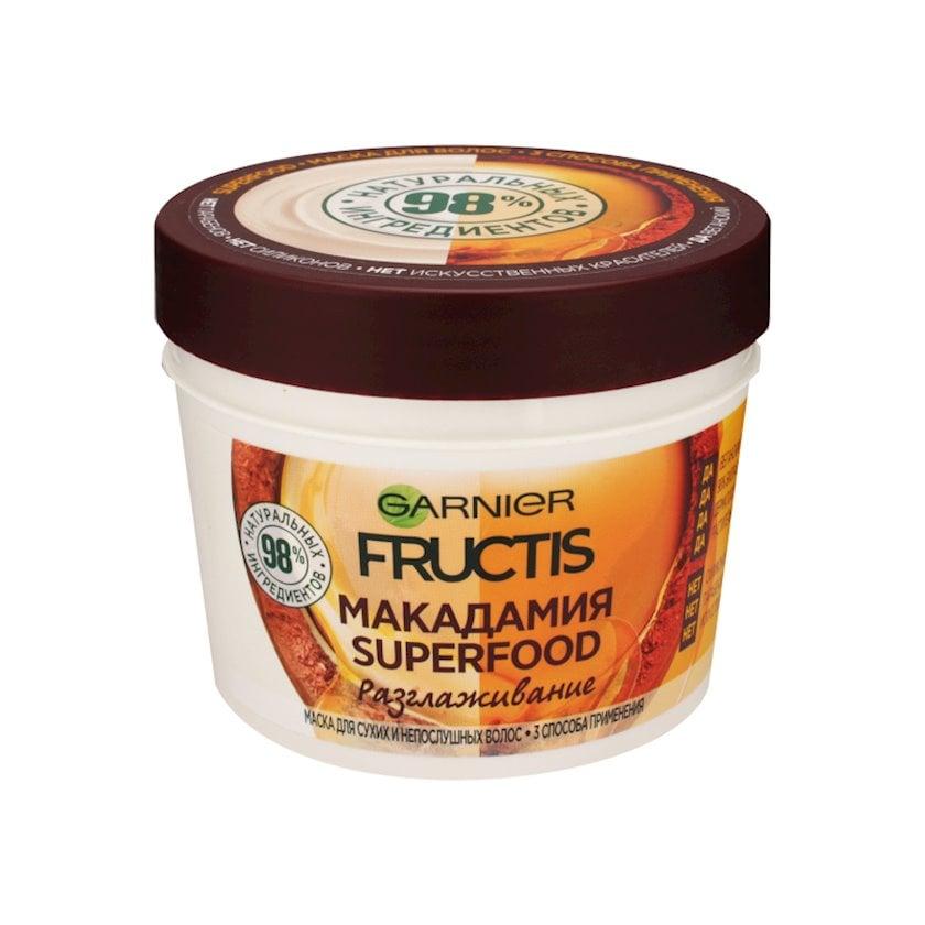 Saç üçün maska Garnier Fructis Superfood Makadamiya, 390 ml