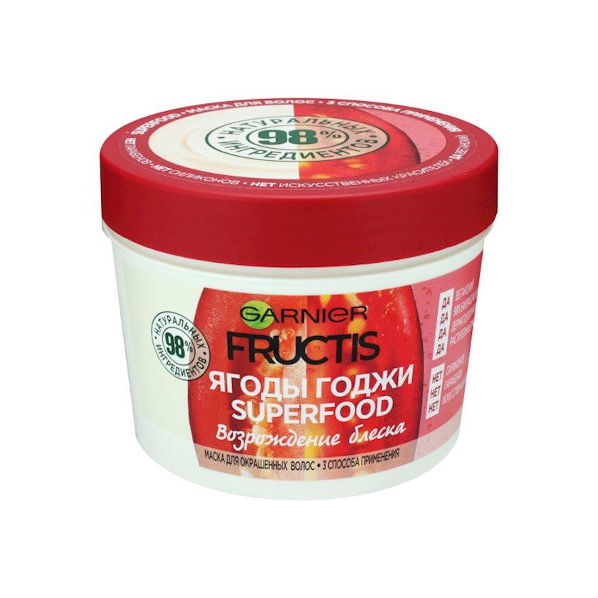 Saç üçün maska Garnier Fructis Superfood Qodjı giləmeyvəsi, 390 ml