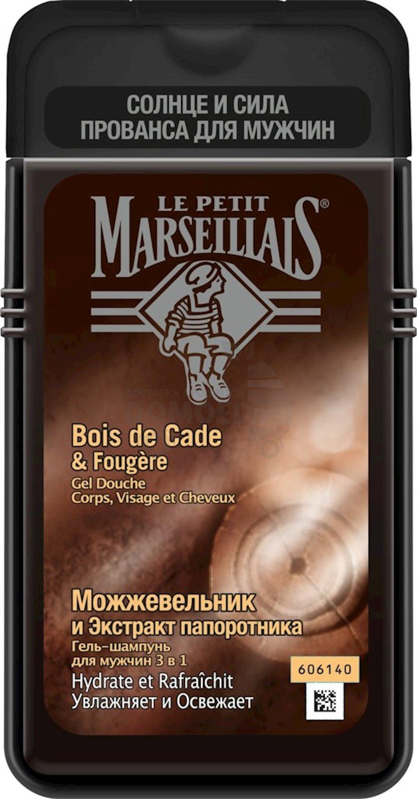 Gel-şampun kişilər üçün Le Petit Marseillais Juniper and Fern Extract kişilər üçün, 400 ml