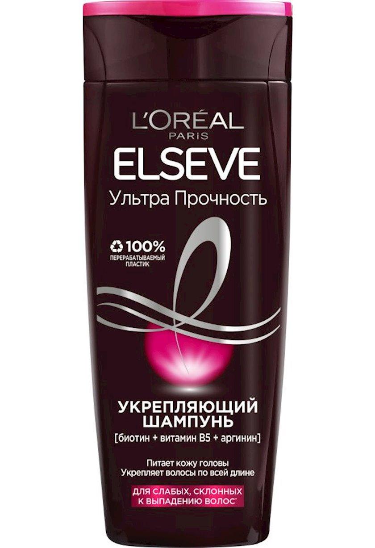 Saç üçün şampun L'Oréal Paris Elseve Ultra möhkəmləndirici, 250 ml