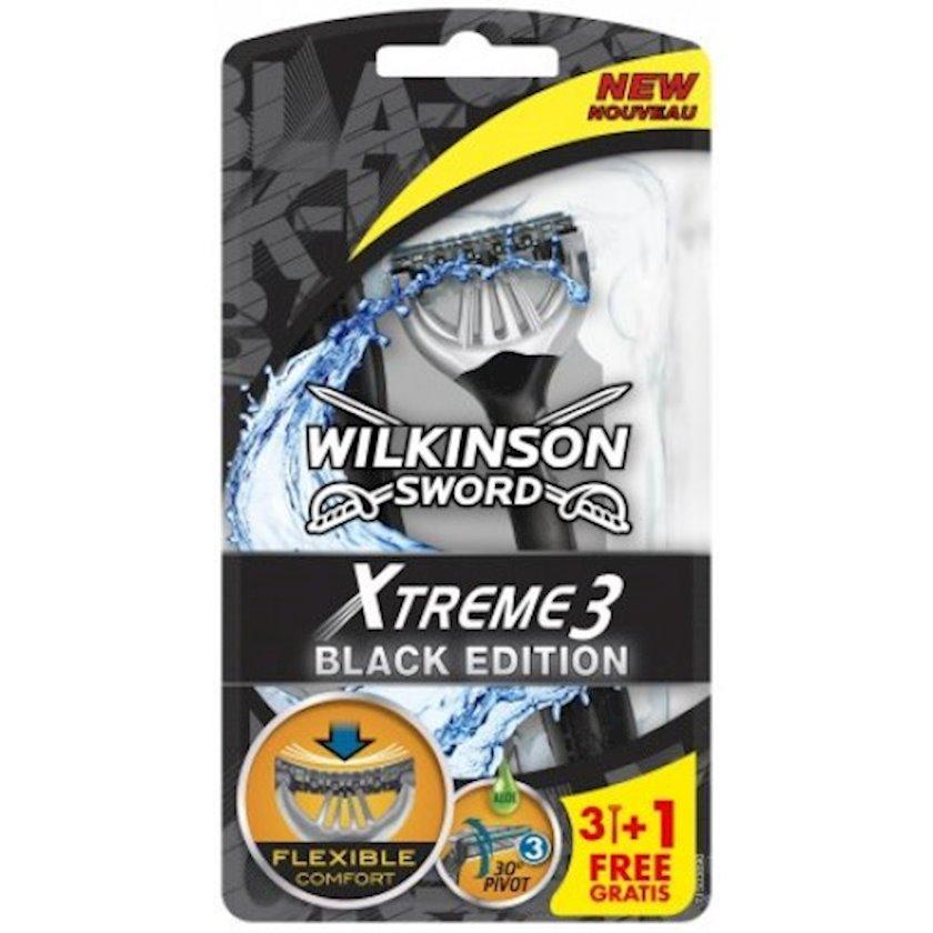 Təraş ülgücləri Wilkinson Sword (Schick) Xtreme 3 Black Edition 3+1 ədəd