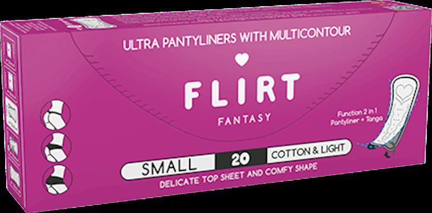 Gigiyenik bezlər Fantasy Flirt Ultra Cotton&Light 20 əd.
