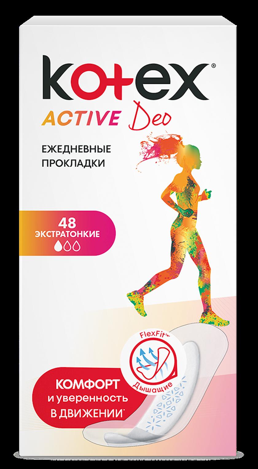 Gündəlik bezlər Kotex Active Deo, 48əd.