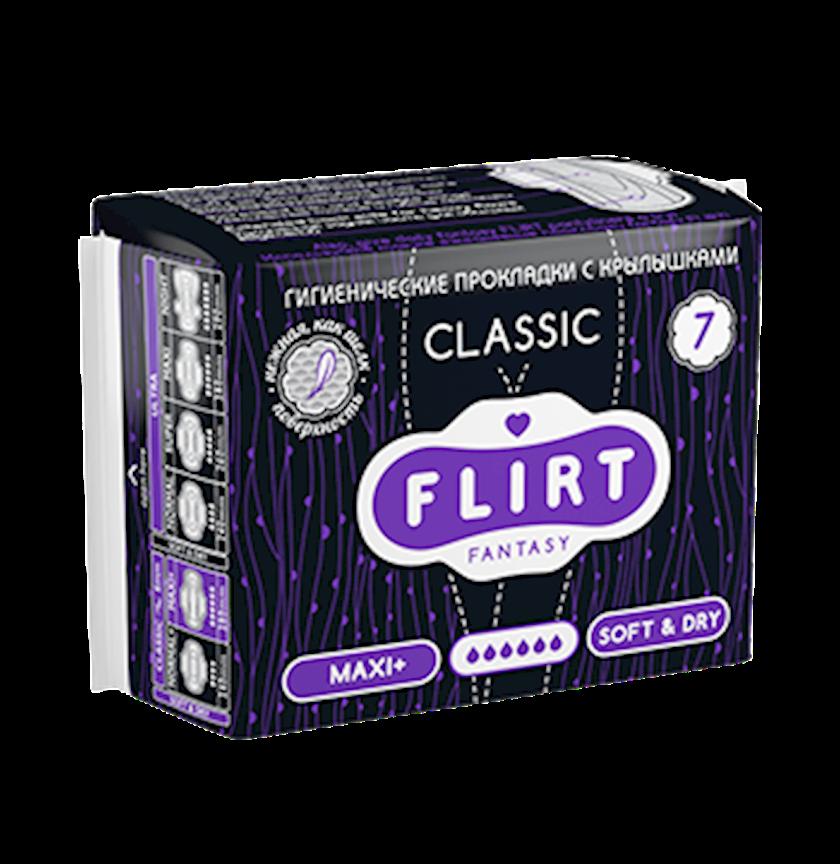 Kritik günlər üçün bezlər FANTASY FLIRT CLASSIC MAXI+ SOFT AND DRY 6 damcı