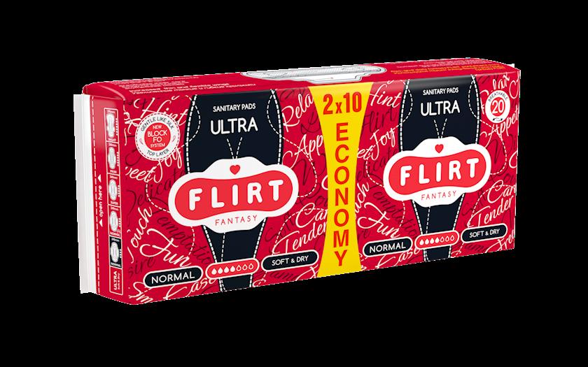 Kritik günlər üçün bezlər fantasy FLIRT Ultra Line, normal, soft&dry, 4 damcı, 20 əd