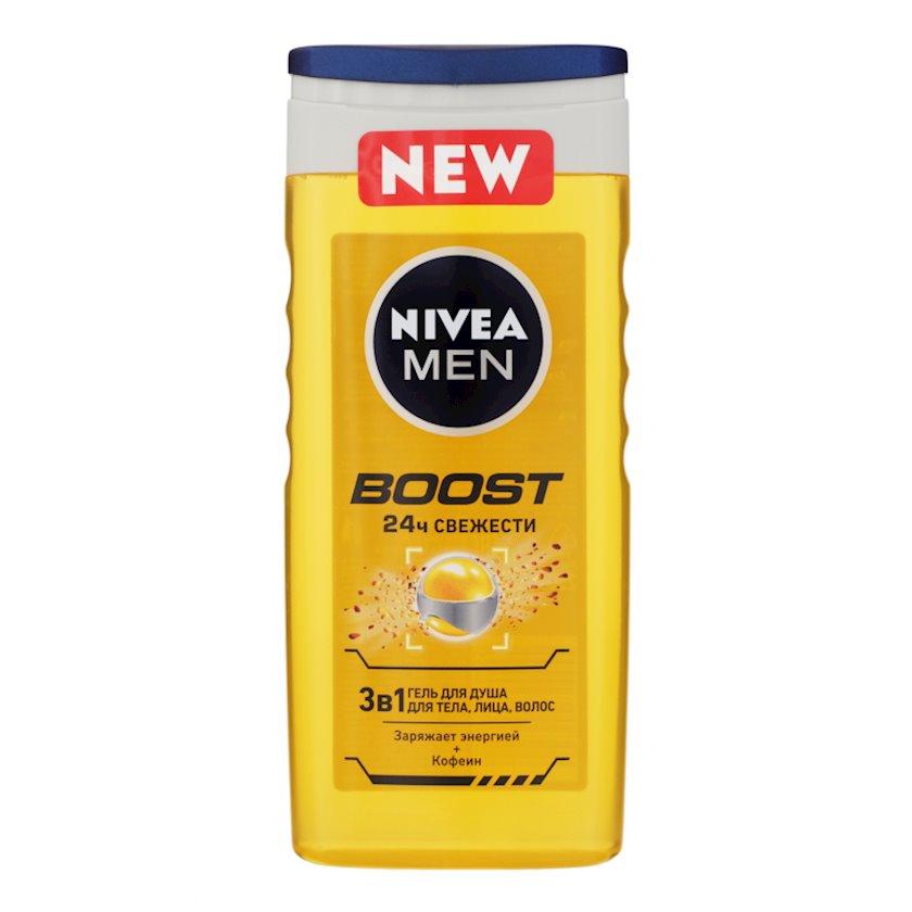 Duş geli Nivea Boost 3 1-də bədən, üz və saç üçün, 250 ml