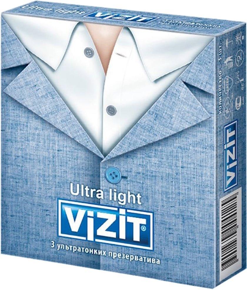Prezervativlər Vizit Ultra light 3 əd