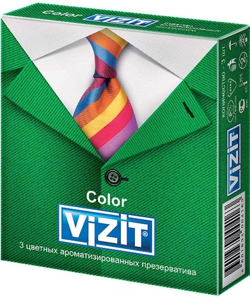 Prezervativlər Vizit Color 3 əd