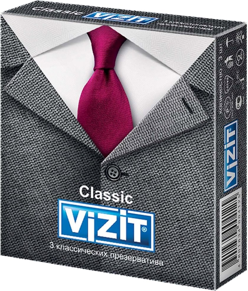 Prezervativlər Vizit Classic 3 əd