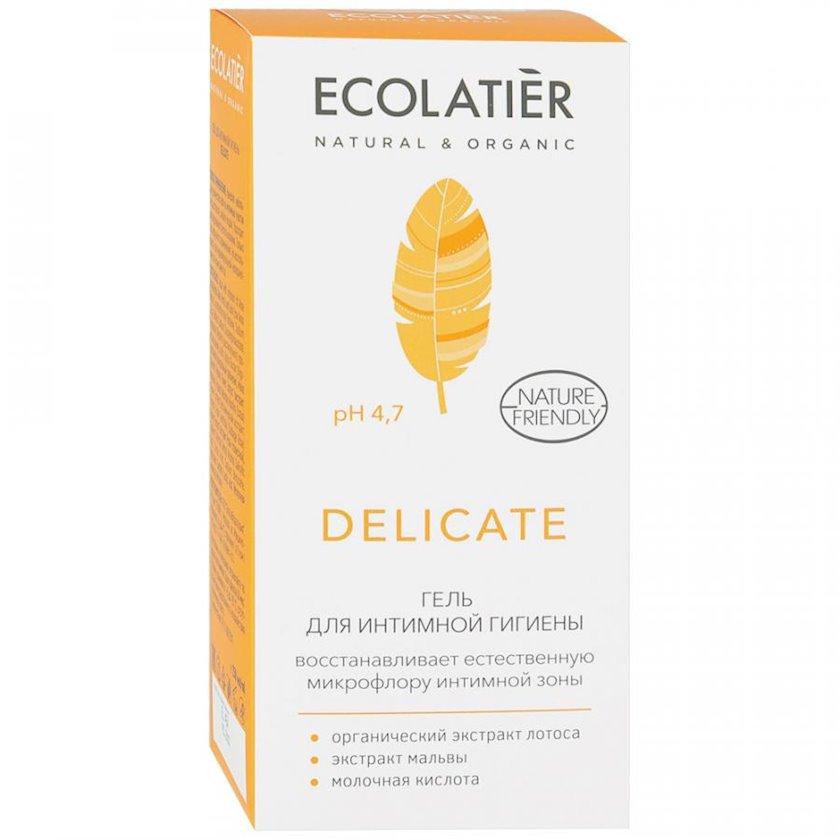İntim gigiyena üçün gel Ecolatier Delicate təbii lotus ekstraktı ilə 250 ml