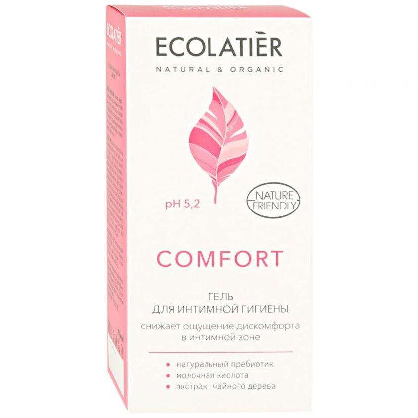 İntim gigiyena üçün gel Ecolatier Comfort süd turşusu və probiotik ilə 250 ml